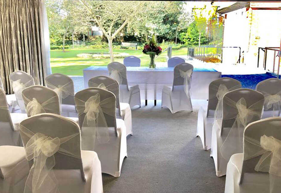 Russetings Wedding venue London with audio installation