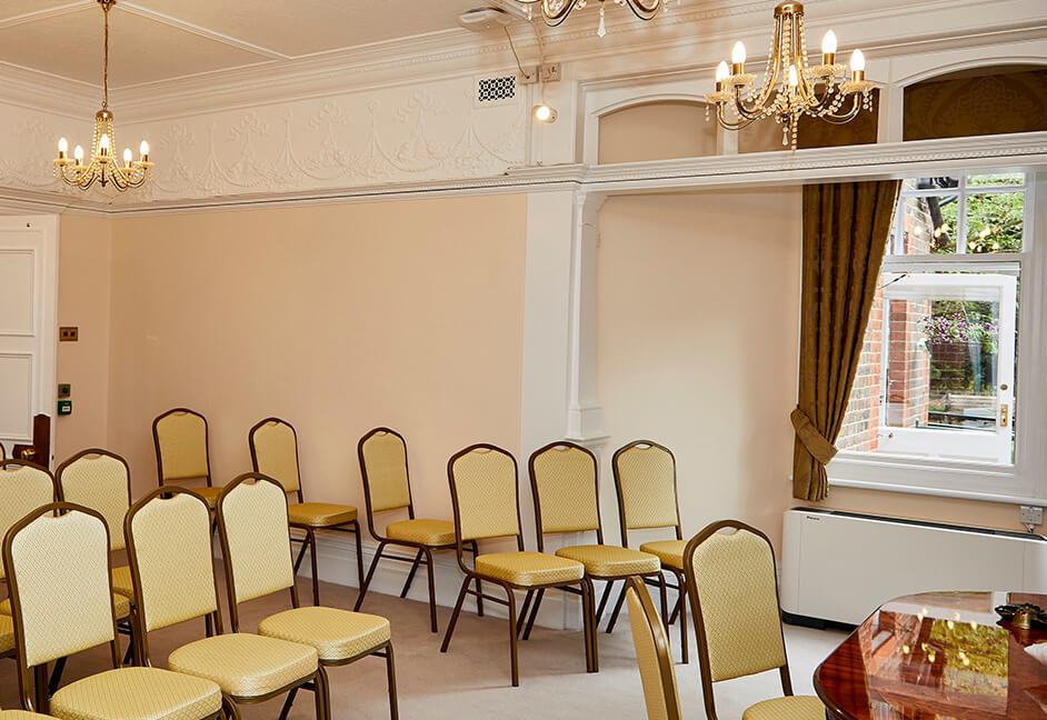 Registry Office Greater London with Audio Visual equipment