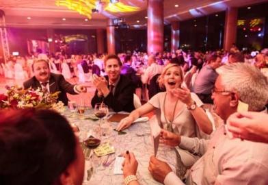 Delegates at awards dinner