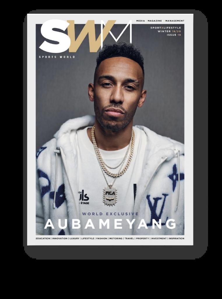 Sports world magazine cover