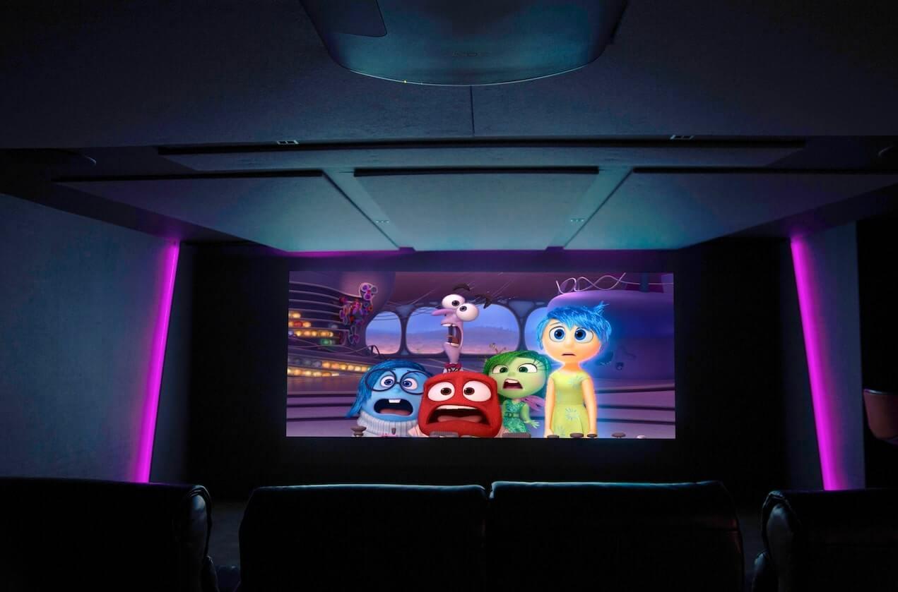 Home Cinema purple LED side lights