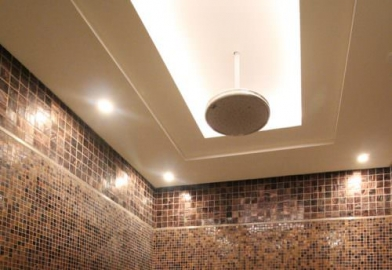 Shower sauna wet room general downlighting