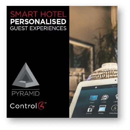 Pyramid control4 hospitality AV brochure cover