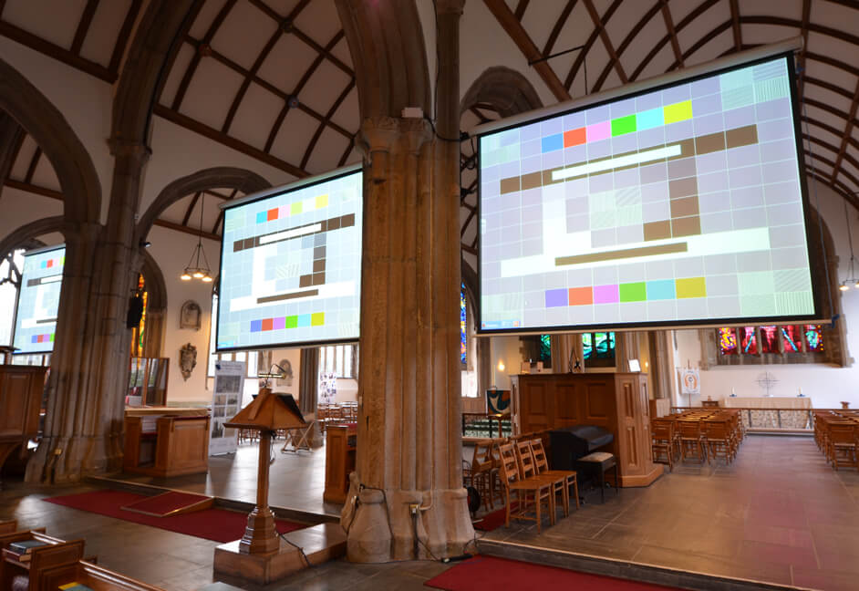 Screens in listed building