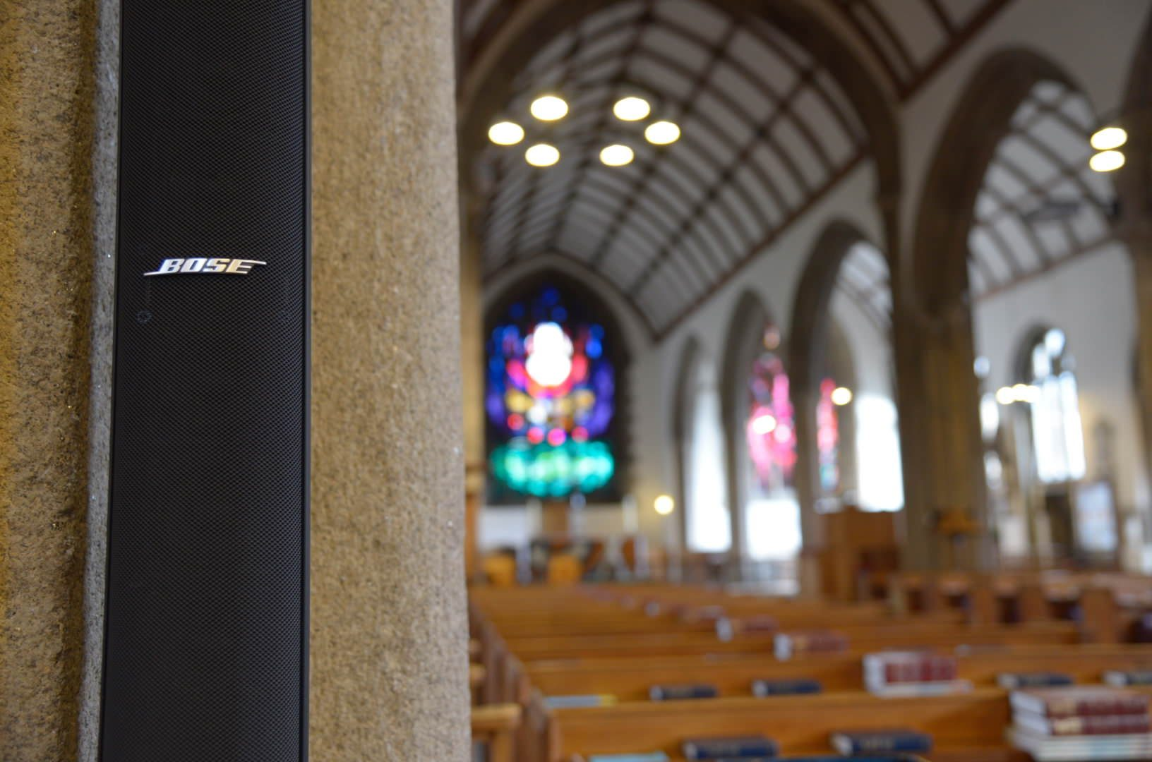 Bose sound system installed into St Andrews Church Plymouth Devon
