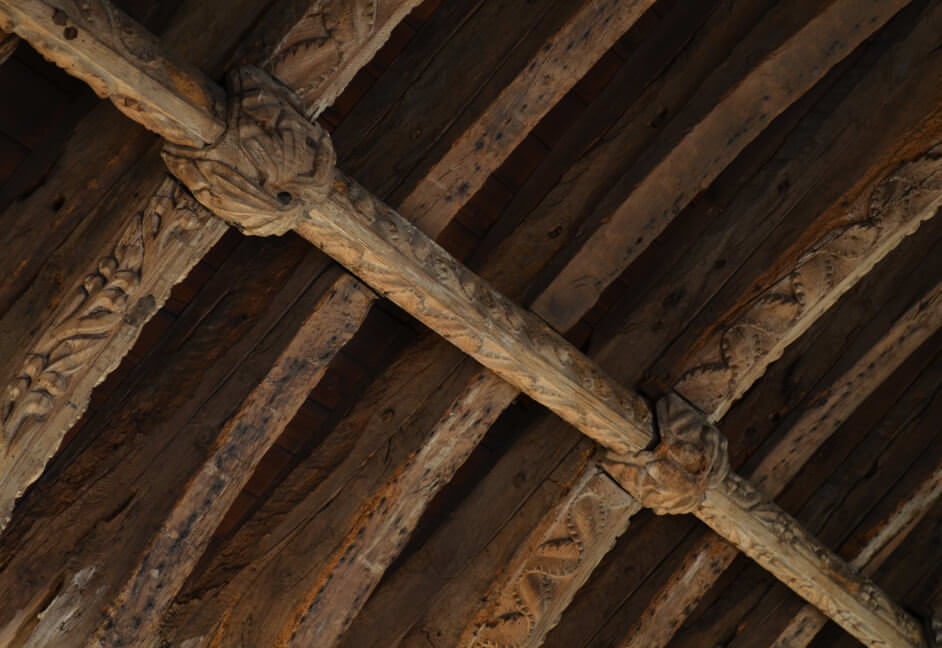 Cornwall Church ceiling beam detail