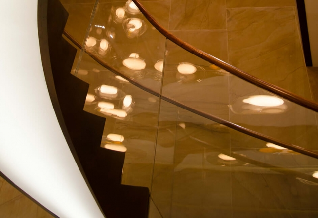 Staircase pendant dimmable lighting as part of whole home lighting control