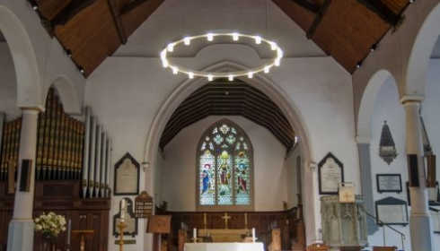 Stoke church ring ceiling lighting