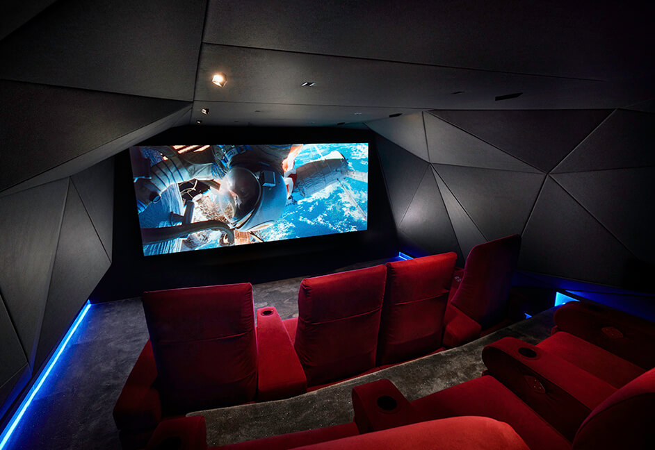 luxury HD cinema interior design