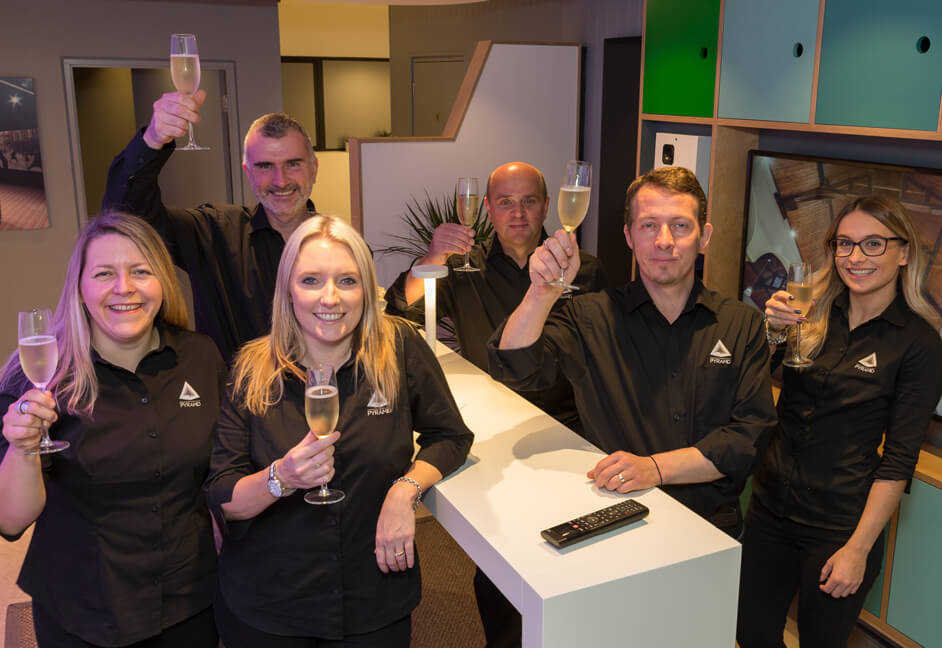 Team celebrate showroom opening in Plymouth