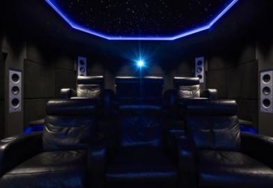 Luxury seating Keff speakers 4K projector