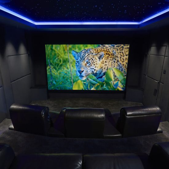 South West UK private cinema star field ceiling