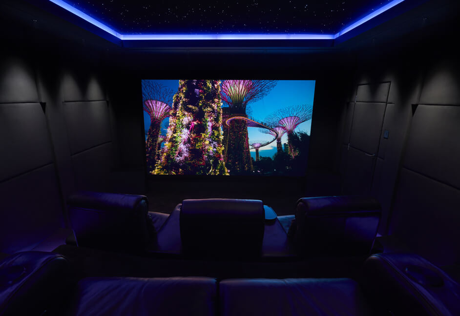 4K projection screen LED lighting ceiling