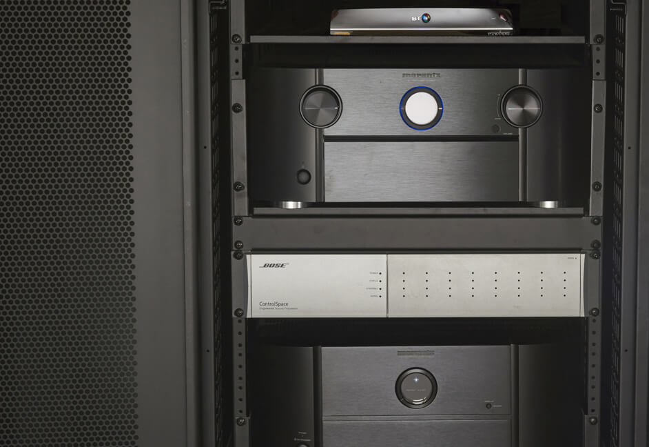 Luxury home cinema rack audio and control The South West