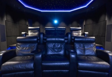leather luxury cinema seating, Devon