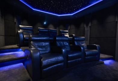 custom star field cinema ceiling lighting