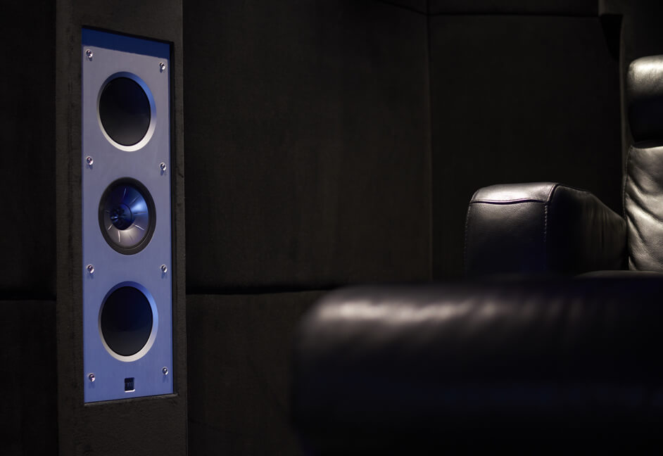 Keff speakers in luxury cinema Installation South West UK