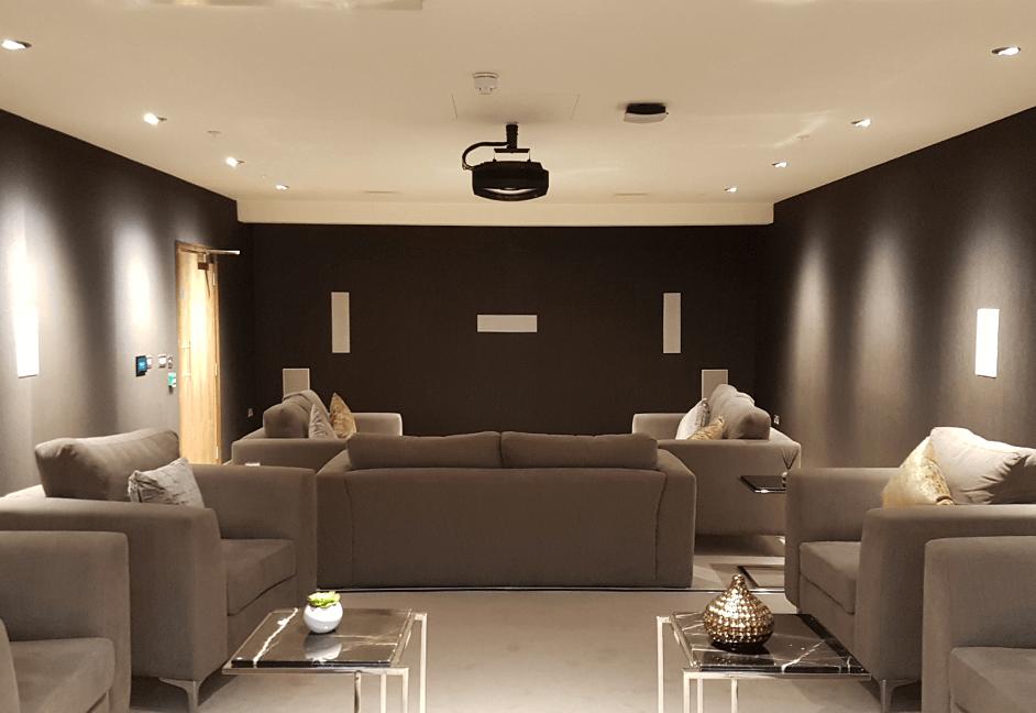 Felxible media room and cinema for multiple dwelling unit