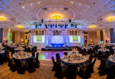 Awards ceremony dinner presentation for Tourism Awards in Cornwall