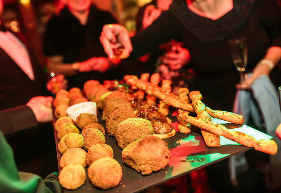 Food at event party for attendees