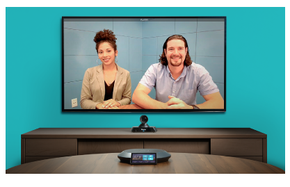 Life-size Videoconferencing displayed on screen