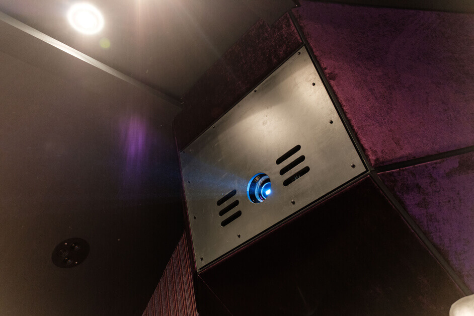 Wood End Manor Family Home Cinema Projector in custom housing