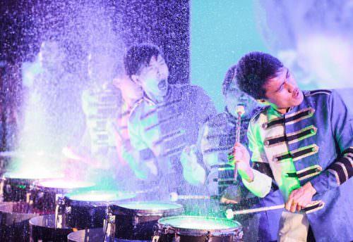Performance act water drumming