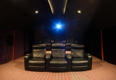 Cinema seating for custom home cinema install in Cambridgeshire