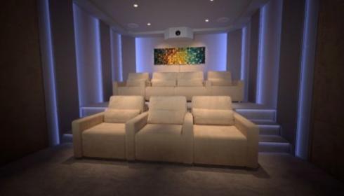 Clint Wilson home cinema blue