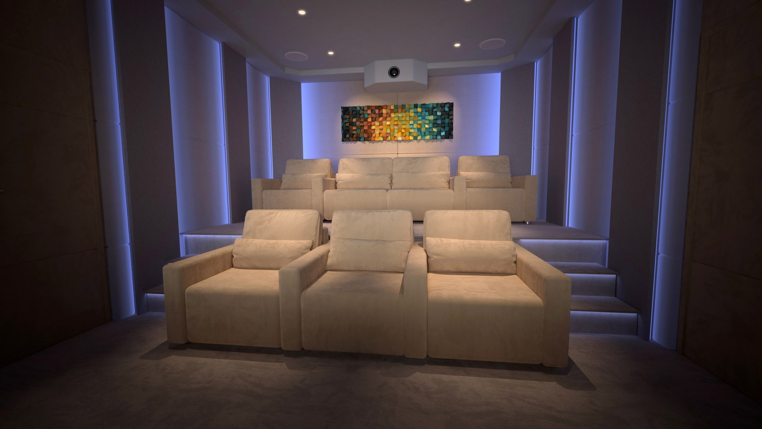 Clint Wilson home cinema blue