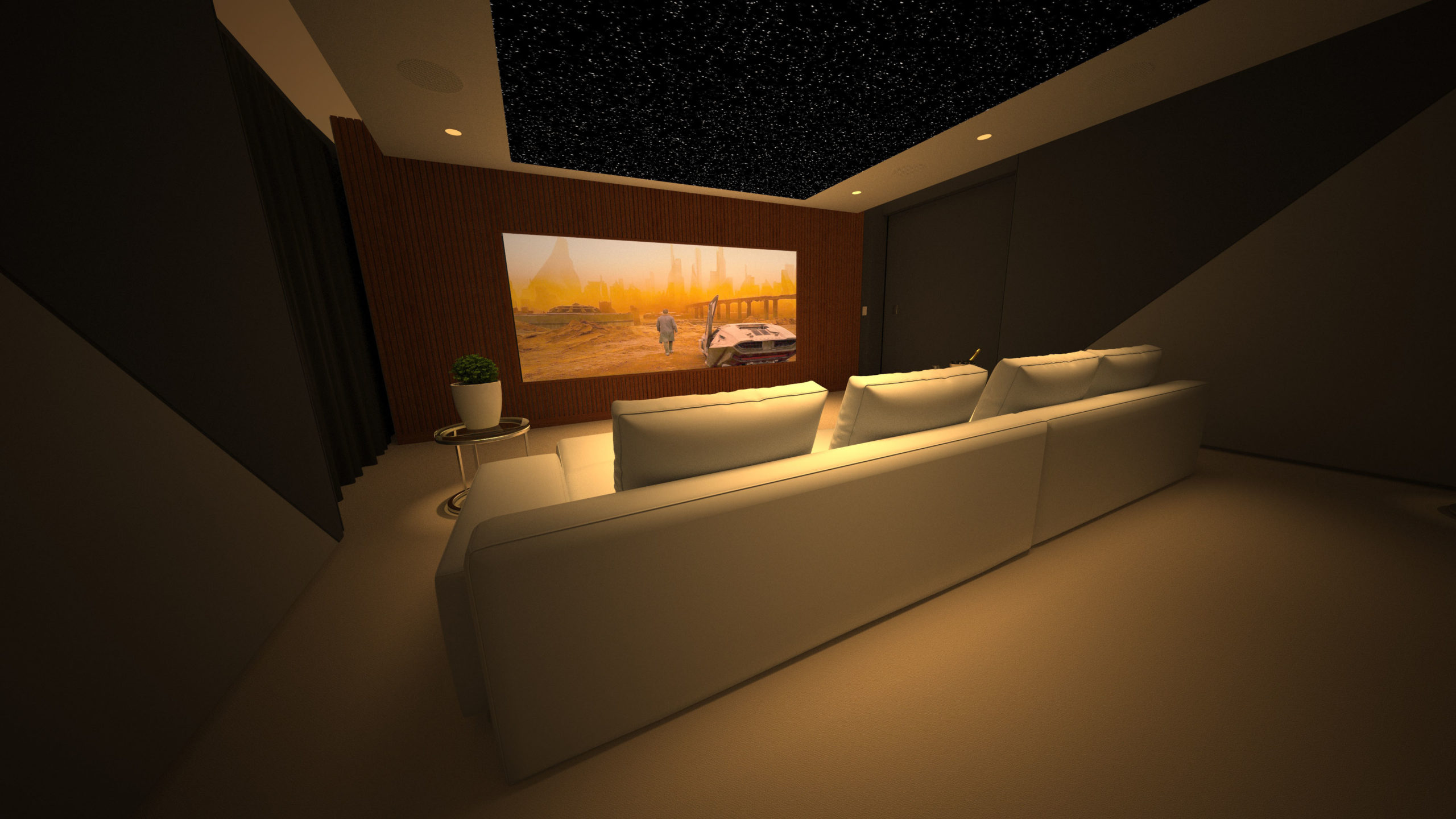 Paco home cinema on screen